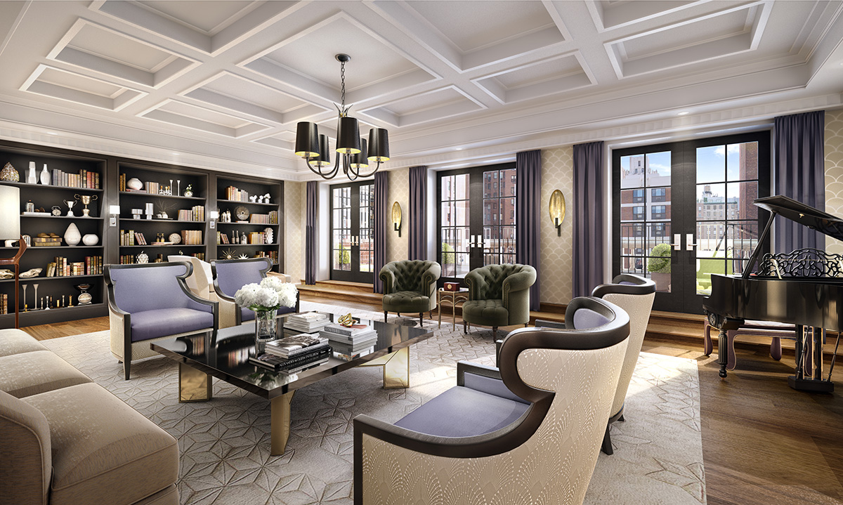 33 east 74th street for Pent house interior